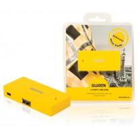 Hub USB 4ports jaune Barcelona