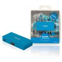 Hub USB 4ports bleu Curaçao