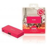 Hub USB 4ports fuchsia Paris
