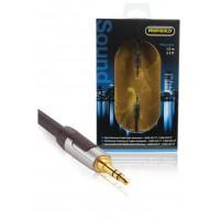 Ca^ble audio stéréo mâle de 3.5 mm-1.00 m noir