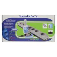 Kit de nettoyage, connexion et protection pour TV