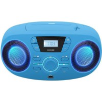 BIGBEN CD61BLUSB Lecteur Radio Cd Portable Usb Bleu + Speakers Lumineux