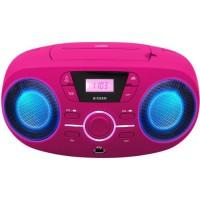 BIGBEN CD61RSUSB Lecteur Radio Cd Portable Usb Rose + Speakers Lumineux
