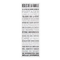 Toile imprimée Regles de la famille - 30 x 90 cm - Blanc