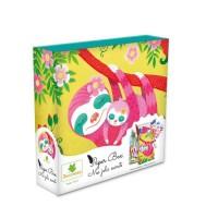 SYCOMORE - Paper Box - Kit de papeterie pour enfants - Mes jolies secrets - Paresseux - Petit Modele - Des 7 ans