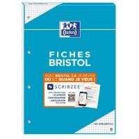 BLOC BRISTOL 2.0 OXFORD PERFORE A4 30 FICHES 210G QUADRILLE 5mm
