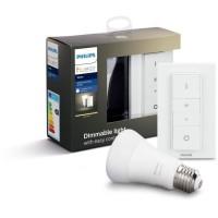 PHILIPS HUE Kit d'éclairage White Ampoule et télécommande - 9,5 W - E27 - Bluetooth