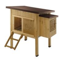 HEN HOUSE 10 Poulailler en bois 124 x 98 x 110 cm
