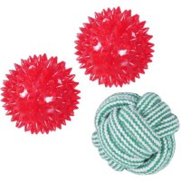 ROSEWOOD Dog Ball Gift Set 3 pieces - Rouge - Pour chien