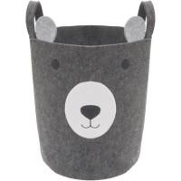 ROSEWOOD Felt Bear Basket - Gris - Pour chien