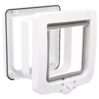 Chatiere - 4 positions - Avec tunnel - 20 × 22 cm - Blanc