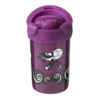 TOMMEE TIPPEE Tasse anti-chute super cup avec couvercle - déco violet