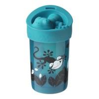 TOMMEE TIPPEE Tasse anti-chute super cup avec couvercle - déco bleu