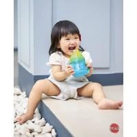 NUBY Gobelet anti-goutte Flip-It Clik it avec anses - 240 ml - Bleu - 12 mois +