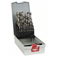Assortiment ProBox de forets a métaux rectifié HSS-G, 1-13mm, 135°, 25 - BOSCH