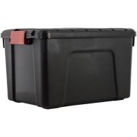 IRIS OHYAMA Lot de 3 boites de rangement bricolage - Store It All - 60 L - Noir et rouge - 59 x 39,5 x 35,5 cm