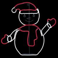 FEERIC LIGHTS & CHRISTMAS Forme tube Bonhomme de neige - L 50 cm