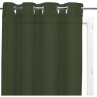 SOLEIL d'OCRE Voilage a oeillets Panama - Coton - 135 x 250 cm - Vert