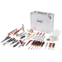 MANUPRO Valise en aluminium a outils 725 outils et accessoires - acier et chrome vanadium