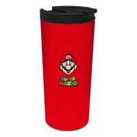 STOR Mug isotherme en acier inoxidable Mario - Rouge - 425ml