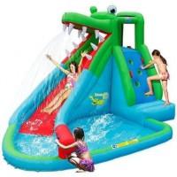 JURATOYS HAPPY HOP Château - Aire de jeux gonflable The Crocodile Pool