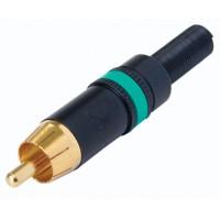 NYS373 connecteur RCA jaune vert dorée