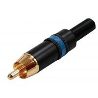 Prise RCA bleu doré référence NYS373 de couleur bleu métallique