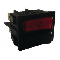 2x 1 POL Rocker Switch V ROUGE 0-I