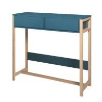 ANKARA Console - Bleu - L 100 x P 35 x H 91 cm