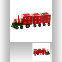 FEERIC LIGHTS & CHRISTMAS Calendrier de l'Avent Bois Train - L 48 cm