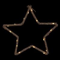 FEERIC LIGHTS & CHRISTMAS Décoration électrique Etoile en corde - 20 Leds - H 50 cm