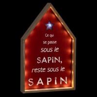 FEERIC LIGHTS & CHRISTMAS Décoration a poser intérieur Maison message LED - H 40 cm