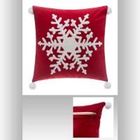 FEERIC LIGHTS & CHRISTMAS Coussin Flocon pompon - 40 cm