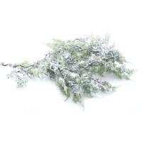 Guirlande sapin effet givré - L 180 cm - Vert et blanc