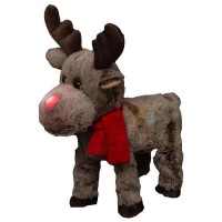 FEERIC LIGHTS & CHRISTMAS Automate de Noël Renne funny qui marche - 1 Led
