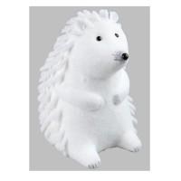 Animaux de Noël : Hérisson debout - H 15 cm - Blanc