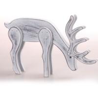 AUTOUR DE MINUIT Renne debout + mange - 17 x 31 cm - Blanc