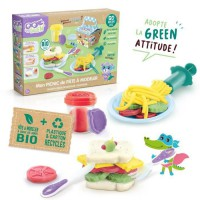 SUPER GREEN Kit pique-nique de pâte a modeler bio