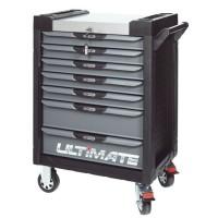 Servante PEARL line noire et grise, 7 tiroirs KS Tools 816.0007
