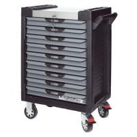 Servante PEARL line noire et grise, 9 tiroirs KS Tools 816.0009