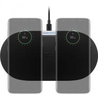 Chargeur rapide double sans fil 10 W, Noir