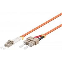 Câble à fibres optiques, Multimode (OM2) Orange 7.5 m