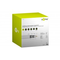 120 dB câble d'antenne coaxial, 4x blindé, CU, 305 m, Blanc 305 m