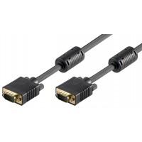 Câble de moniteur Full HD SVGA, Doré 10 m