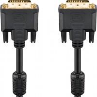 Câble DVI-D Full HD Dual Link, Doré 2 m