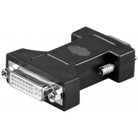 Adaptateur DVI/VGA analogique, nickelé Prise femelle DVI-I Dual-Link (24+5 broches)