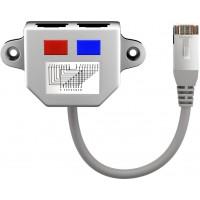 Répartiteur de câbles (Adaptateur Y) noir