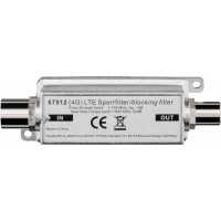 LTE/4G filtre de blocage, Fiche coaxiale - Prise femelle coaxiale Fiche coaxiale