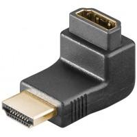 Adaptateur coudé HDMI™, Doré Prise femelle standard HDMI™ (type A)