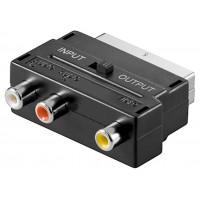 Adaptateur Scart vers audio-vidéo composite IN/OUT Connecteur SCART (21 broches)